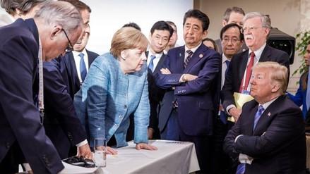 La foto viral de la cumbre del G7 que evidenció la tensión entre Trump y sus aliados