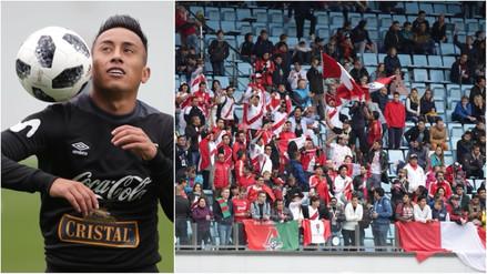 La Selección Peruana entrenó a las afueras de Moscú ante cientos de compatriotas
