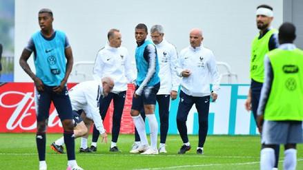 Kylian Mbappé se retiró lesionado del entrenamiento de Francia