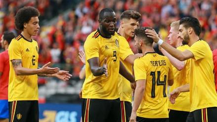 Bélgica goleó 4-1 a Costa Rica en su último amistoso previo al Mundial