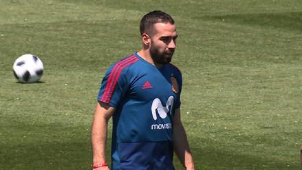 Dani Carvajal entrenó con España y quedó listo para el debut en Rusia 2018