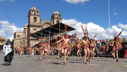 Niños de nivel primario rindieron homenaje a Cusco con danzas típicas