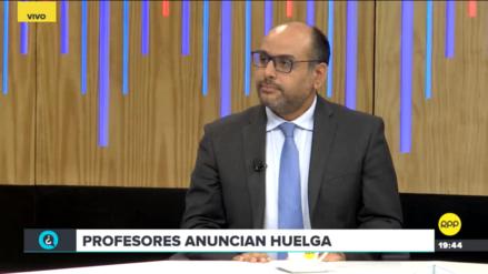 Alfaro dice tener respaldo de Gabinete para declarar ilegal eventual huelga de maestros
