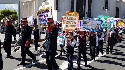 Niños marcharon en rechazo al Trabajo Infantil en Arequipa