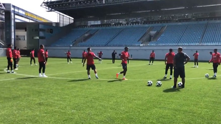 La Selección Peruana jugó al 'camotito' en su segundo día en Rusia 2018