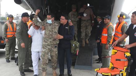 Militares heridos en ataque terrorista en el Vraem llegaron a Lima