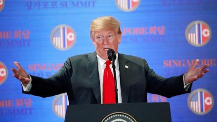 Trump cree que la amenaza nuclear norcoreana ha desaparecido