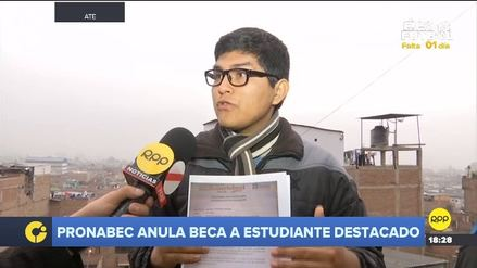 Estudiante denuncia que Pronabec le anuló beca tras pedir licencia por salud