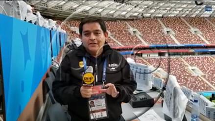 RPP recorrió el estadio del primer partido de Rusia 2018