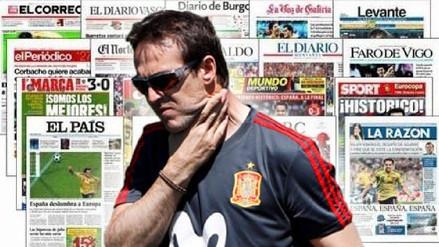 Así reaccionó la prensa tras a salida de Lopetegui como DT de España