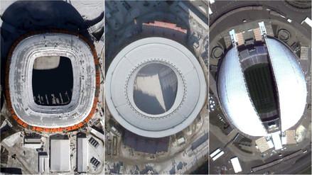 Así se ven los estadios del Mundial Rusia 2018 desde el espacio