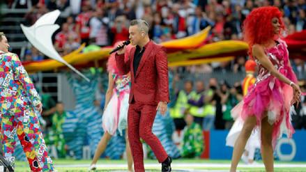 Rusia 2018: El polémico gesto de Robbie Williams durante la ceremonia de inauguración