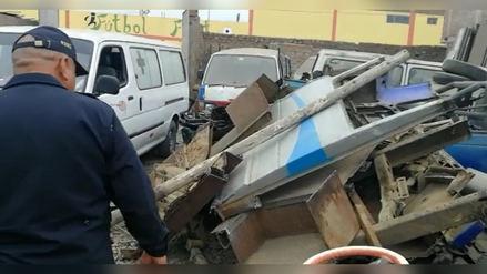 Hallan taller donde desmantelaban autos en El Bosque