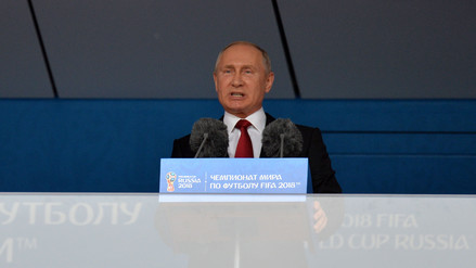 Vladimir Putin inauguró el Mundial Rusia 2018: