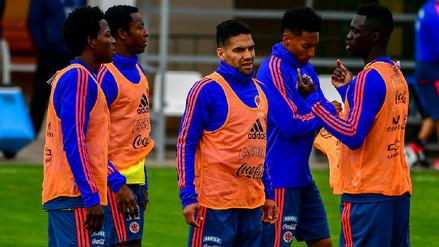 Colombia entrenó con miras al partido con Japón sin James Rodríguez