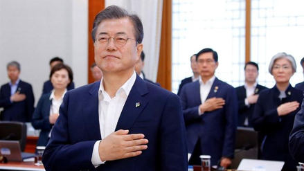Moon Jae-in expresó su disposición a suspender las maniobras conjuntas con EE.UU.