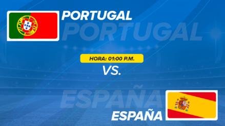 España vs Portugal EN VIVO ONLINE: hora, canales y alineaciones probables