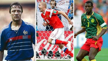 Los jugadores que anotaron de cabeza el primer gol de un Mundial
