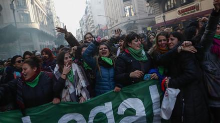 Así se celebró en Argentina la aprobación de la legalización del aborto