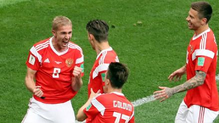 Rusia humilló a Arabia Saudita en la inauguración del Mundial con una goleada por 5-0