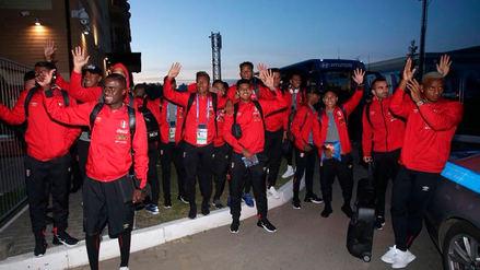 Selección Peruana fue recibida por cientos de hinchas en Saransk, sede del debut en Rusia 2018