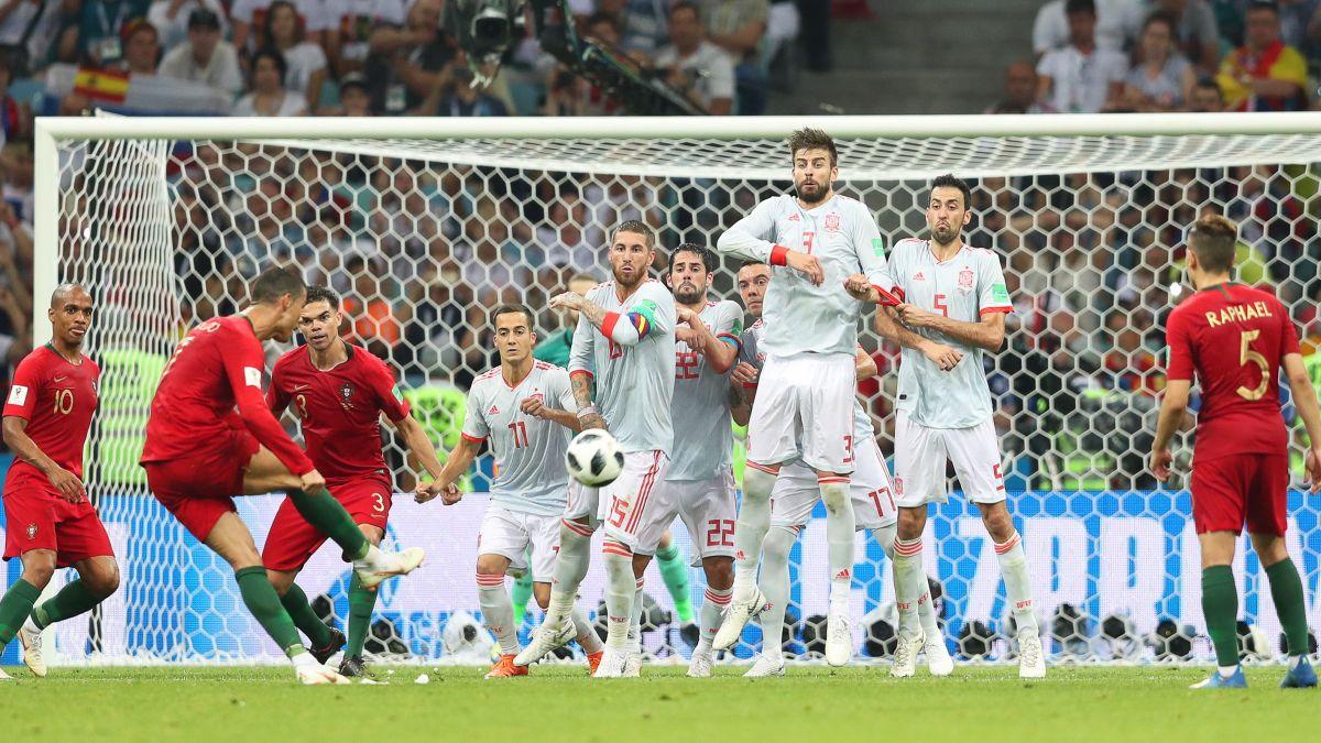 Portugal empató 3-3 ante España con triplete de Cristiano Ronaldo