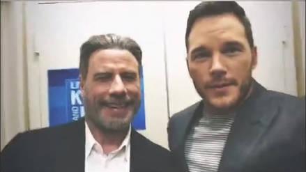 Chris Pratt baila música disco junto a John Travolta