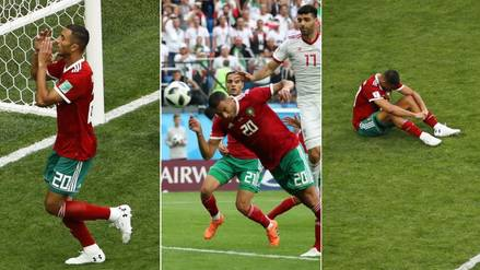 Rusia 2018 | La decepción de Marruecos tras perder con autogol al último minuto