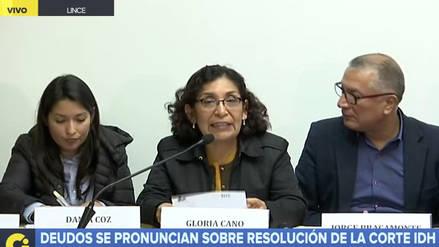 Deudos de Barrios Altos y La Cantuta afirman que fallo de la Corte IDH defiende a víctimas