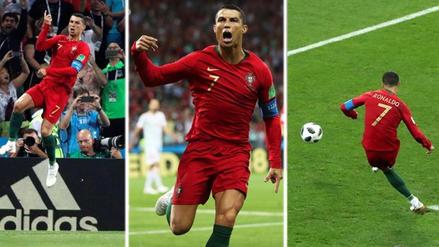 Así fue el primer gol de Cristiano Ronaldo en el Mundial Rusia 2018