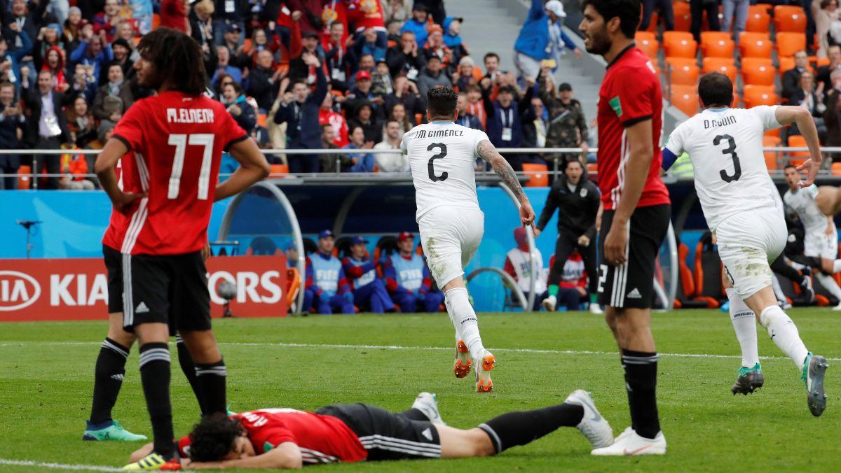 Uruguay apeló a su estilo para vencer a Egipto en su debut en Rusia 2018