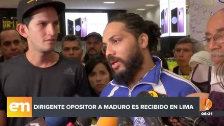 Llegó al Perú el dirigente estudiantil venezolano expulsado por el régimen de Maduro