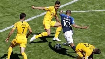 Rusia 2018 | El récord de Kylian Mbappé en el Francia vs. Australia