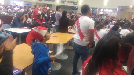 Emoción en los hinchas trujillanos durante encuentro Perú-Dinamarca