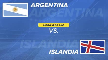 Argentina vs. Islandia EN VIVO EN DIRECTO ONLINE: Canales, goles y minuto a minuto