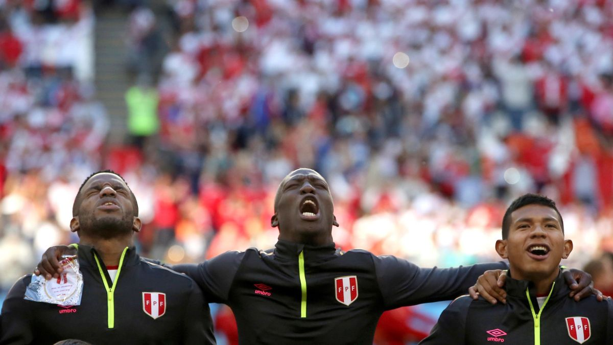 Perú vs. Dinamarca   Así se escuchó el himno de Perú en el Mordovia Arena de Saransk