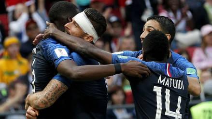 Francia venció 2-1 a Australia en un partido donde la protagonista fue la tecnología