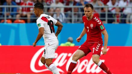 Futbolista danés lesionado ante Perú se despidió de Rusia 2018