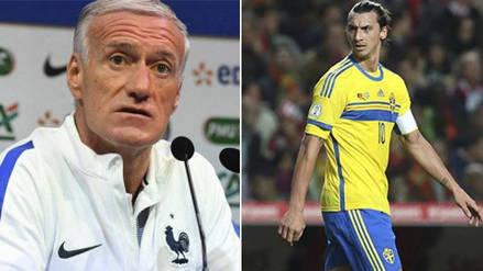 Zlatan Ibrahimovic criticó a Didier Deschamps por no convocar a Karim Benzema