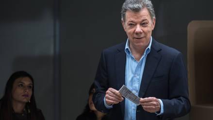 Juan Manuel Santos votó por última vez como presidente de Colombia