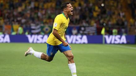 El tremendo golazo de Coutinho para que Brasil anote su primer gol en Rusia 2018