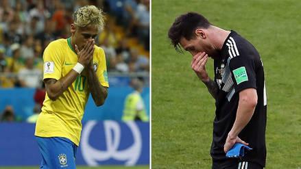 Argentina y Brasil, estrenos con poco brillo en el Mundial