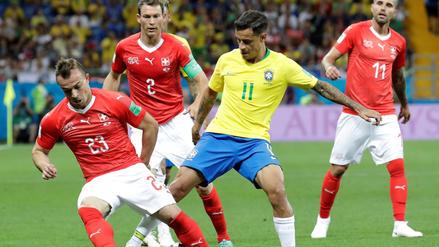 Brasil vs. Suiza: Coutinho desmereció el empate suizo con una polémica frase