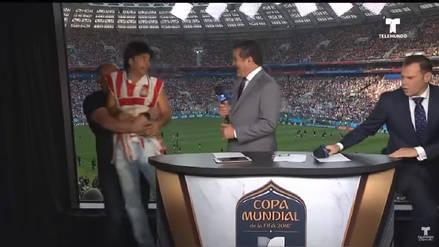Eugenio Derbez irrumpió en cabina de transmisión durante el México vs. Alemania