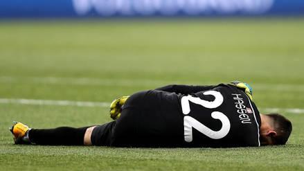Inglaterra vs. Túnez: Se lesionó el primer arquero de Rusia 2018