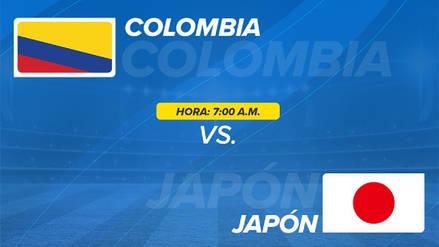 Colombia vs. Japón EN VIVO EN DIRECTO ONLINE: Canales, goles y minuto a minuto