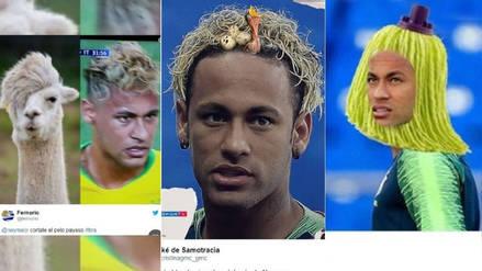 Neymar no se salvó de los memes tras sorprendente look