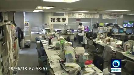 Videos captaron el potente sismo que sacudió Japón