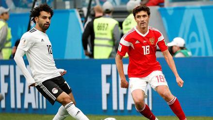 Rusia derrotó 3-1 a Egipto y clasificó a octavos de final del Mundial