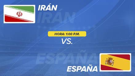 Irán vs España EN VIVO EN DIRECTO ONLINE: Canales, goles y alineaciones